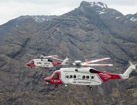 HM Coastguard rescue helicopters