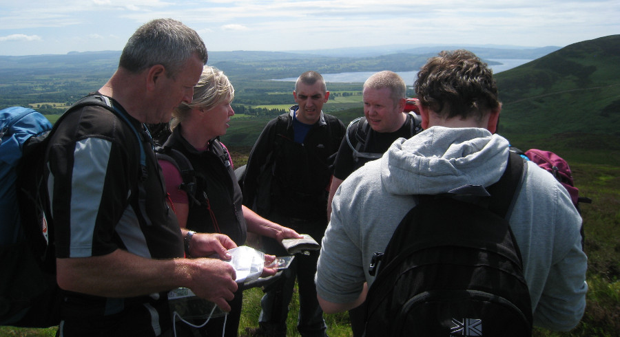 Hill navigation course