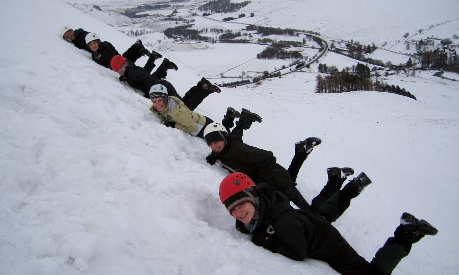 Students winter skills weekend