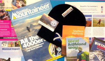 Collage of Mountaineering Scotland member benefits - reasons to join Mountaineering Scotland