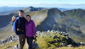Hill walkers enjoying the Scottish highlands