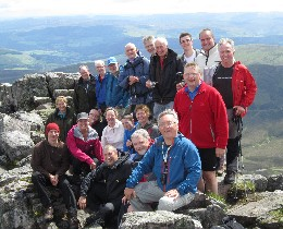 Climbing club members on the hill