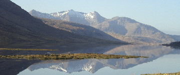 Ben Starav in the Blackmount, reflected in a loch