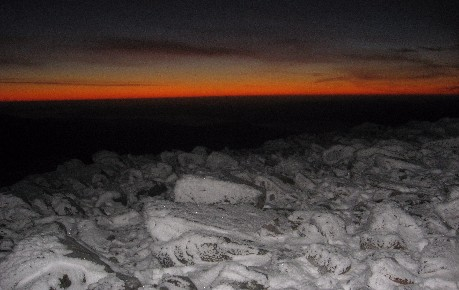 Pre-dawn light at the top of Schiehallion