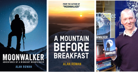 Collage of books by Alan Rowan and the author
